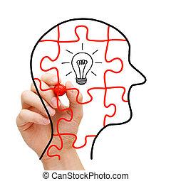 pensée, concept, créatif