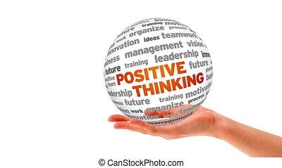 pensée, positif, mot, sphère