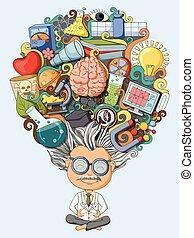 pensée, scientifique, rêve