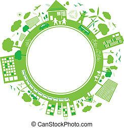 penser, concepts, vert, conception