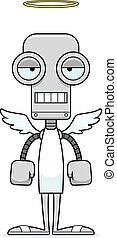 percé, dessin animé, ange, robot