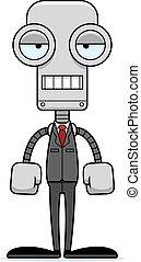percé, personne affaires, dessin animé, robot