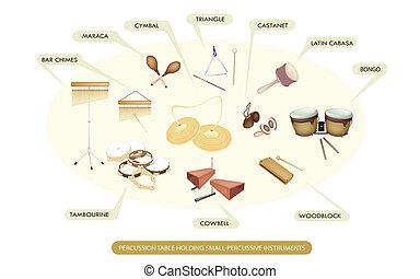 percussion, ensemble, instrument, bande, symphonique