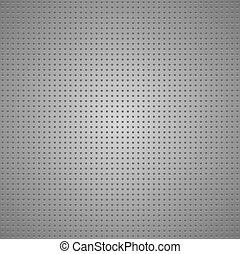 perforé, gris, structuré, feuille, métallique