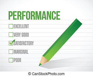 performance, satisfaisant, revue, illustration
