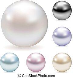 perles, couleur