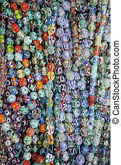perles verre, coloré, fond
