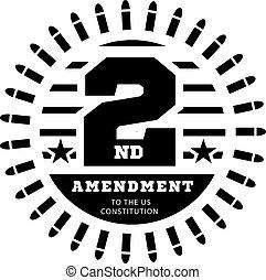 permis, vecteur, constitution, nous, seconde, possession, blanc, weapons., illustration, amendement