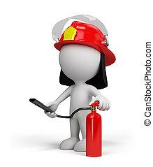 personne, –, 3d, pompier