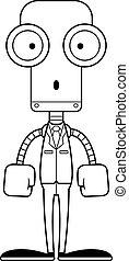 personne affaires, dessin animé, surpris, robot