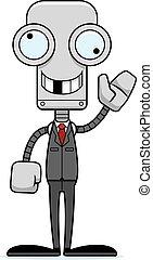 personne affaires, idiot, dessin animé, robot