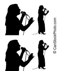 personne agee, chanteur, femme
