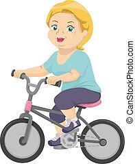 personne agee, vélo, femme