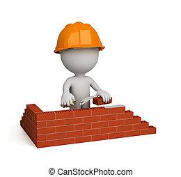 personne, constructeur, 3d, –