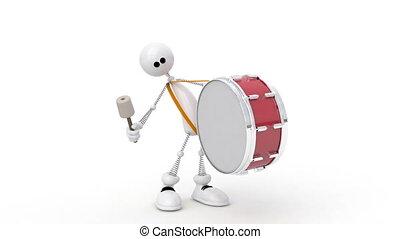 personne, drum., 3d
