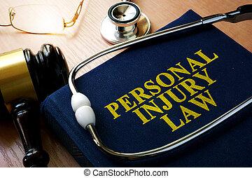 personnel, blessure, concept, droit & loi
