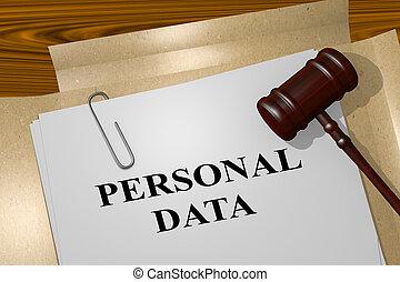 personnel, concept, données