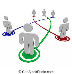 personnel, connexions, association, -, liens