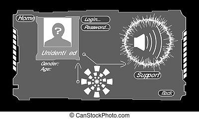 personnel, données, hologramme