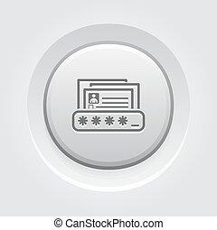 personnel, protection, données, icône