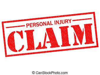 personnel, réclamation, blessure