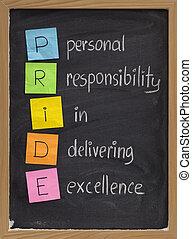 personnel, responsabilité, excellence, livrer