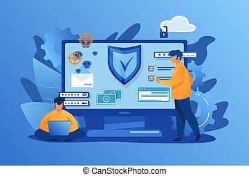 personnel, sécurité, numérique