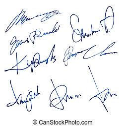 personnel, signatures, ensemble