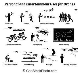 personnel, usage, applications, bourdon, entertainment.