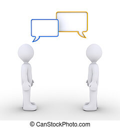 personnes, deux, communiquer