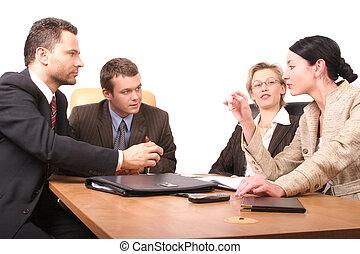 personnes, réunion, 4