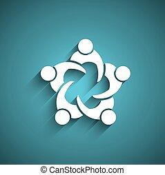 personnes réunion, circle., business