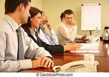 personnes réunion, simple, business