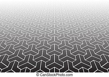 perspective., arrière-plan., résumé, diminuer, géométrique
