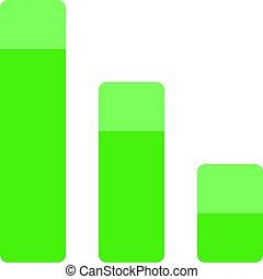 perte, business, graphique