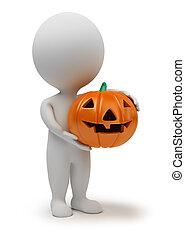 petit, -, 3d, halloween, gens