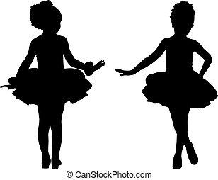 petit, ballerines, silhouette