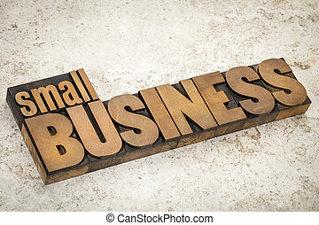 petit, bois, type, business