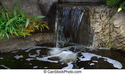 petit, chute eau, parc, artificiel