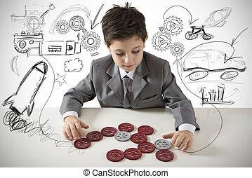 petit, créatif, ingénieur