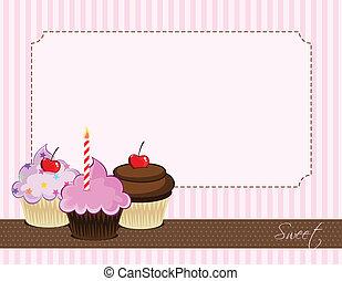 petit gâteau, délicieux