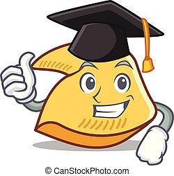 petit gâteau fortune, dessin animé, remise de diplomes, caractère