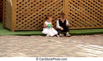 petit garçon, girl, séance