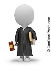 petit, juge, 3d, -, gens