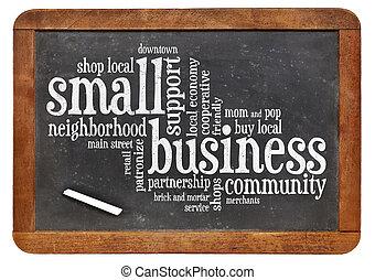 petit, mot, business, nuage