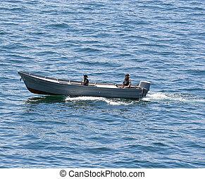 petit, patrouiller bateau