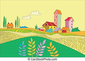 petit, village