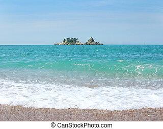 petite île, mer adriatique