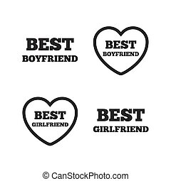 petite amie, mieux, icons., petit ami