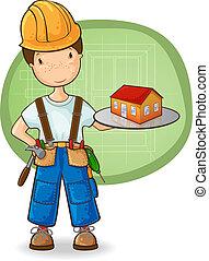 petite maison, constructeur, tenue